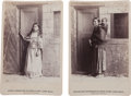 Photography:Cabinet Photos, Two Cabinet Photos, Long Wolf's Squaw and Pappooses, and His Daughter Lizzie. ... (Total: 2 Items)