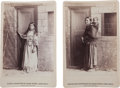 Photography:Cabinet Photos, Two Cabinet Photos, Long Wolf's Squaw and Pappooses, and HisDaughter Lizzie.... (Total: 2 Items)