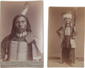 Photography:Cabinet Photos, Two Cabinet Photos, Blue Horse. ... (Total: 2 Items)