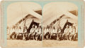 Photography:Cabinet Photos, Haynes Stereoview Card of Sioux Chiefs, Circa 1881....