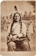 Photography:Cabinet Photos, Sitting Bull: Cabinet Card by O. S. Goff, Circa 1881. ...