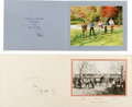 Autographs:Non-American, Queen Elizabeth II & Prince Philip: Signed Christmas Cards. ...(Total: 2 Items)