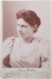 Signed Annie Oakley Cabinet Photo