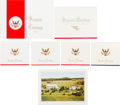 Political:Small Paper (1896-present), Dwight D. Eisenhower: Eight Assorted Christmas Cards. ... (Total: 8 Items)