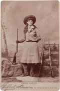 Photography:Cabinet Photos, Cabinet Photo of Annie Oakley with Four Guns. ...