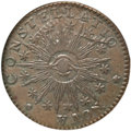 Colonials, 1783 COPPER Nova Constellatio Copper, Pointed Rays, Large US AU53NGC. Crosby 1-A, W-1860, R.4....