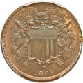 Two Cent Pieces, 1864 2C Small Motto MS65 Brown PCGS. CAC. FS-401....