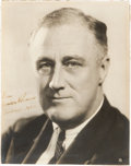 Political:Small Paper (1896-present), Franklin D. Roosevelt: Signed Christmas Photograph....