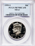 Proof Kennedy Half Dollars: , 1999-S 50C Silver PR70 Deep Cameo PCGS. PCGS Population (143). NGCCensus: (607). Numismedia Wsl. Price for problem free N...