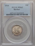 Barber Dimes: , 1916 10C MS63 PCGS. PCGS Population (337/475). NGC Census:(241/484). Mintage: 18,490,000. Numismedia Wsl. Price for proble...