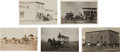 Western Expansion:Goldrush, Real Photo Postcards: Five Montana Stagecoach Scenes.... (Total: 5Items)