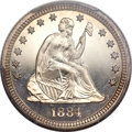 Proof Seated Quarters, 1884 25C PR66+ Cameo PCGS. CAC....