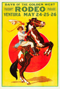 "Movie Posters:Western, Days of the Golden West (Ventura, 1933). Rodeo Poster (28"" X 42"")....."