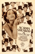 "Movie Posters:Romance, The Divorcee (MGM, 1930). Rotogravure One Sheet (27"" X 41"").. ..."