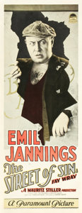 "Movie Posters:Drama, The Street of Sin (Paramount, 1927). Insert (14"" X 36"").. ..."
