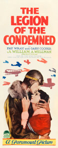 "Movie Posters:War, The Legion of the Condemned (Paramount, 1928). Insert (14"" X 36"")....."