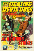 "Movie Posters:Serial, The Fighting Devil Dogs (Republic, 1938). One Sheet (27.5"" X 41"")Chapter 1- ""The Lightning Strikes."". ..."