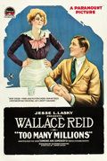"Movie Posters:Comedy, Too Many Millions (Paramount, 1918). One Sheet (27"" X 41"").. ..."