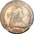Early Dollars, 1797 $1 9x7 Stars, Large Letters VF35 NGC. B-1, BB-73, R.3....
