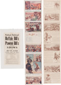 Advertising:Paper Items, Buffalo Bill Wild West: Advertising Postcard Heralds & Broadside.... (Total: 3 Items)