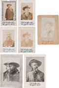 Photography:Cabinet Photos, Buffalo Bill Wild West: Seven Portrait Photo Cards.... (Total: 7 Items)
