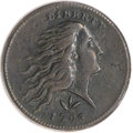 Large Cents, 1793 1C Wreath Cent, Vine and Bars Brown PCGS Genuine. S-8, B-13,R.3....