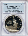 Modern Issues: , 1986-S $1 Statue of Liberty Silver Dollar PR63 Deep Cameo PCGS.PCGS Population (5/9118). NGC Census: (5/11137). Mintage: 6...