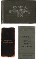 Western Expansion:Cowboy, Buffalo Bill Wild West: Three Souvenir Route Books.... (Total: 3 Items)