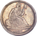 Seated Half Dimes, 1837 H10C No Stars, Small Date (Flat Top 1) MS66 PCGS. CAC....