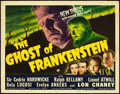 "Movie Posters:Horror, The Ghost of Frankenstein (Universal, 1942). Title Lobby Card (11"" X 14. ..."