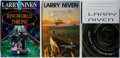 Books:Science Fiction & Fantasy, [Jerry Weist]. Larry Niven. SIGNED. Three First Editions, First Printings. All three signed by Niven, with two also inscribe... (Total: 3 Items)