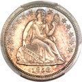 Proof Seated Dimes, 1856 10C Small Date PR64 PCGS....