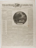 Books:Periodicals, [Newspaper]. Group of Three Civil War Era Issues of The SaturdayEvening Post. July 6, Nov. 2 and 9, 1861. Light...