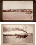 Photography:Cabinet Photos, Two Cabinet Cards: Two Superb Views of Port Arthur, Thunder Bay,Ontario, Canada, Circa 1886.... (Total: 2 Items)