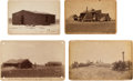 Photography:Cabinet Photos, Four Cabinet Cards: Sod Houses and Agriculture in the DakotaTerritory, Circa 1884-1887.... (Total: 4 Items)
