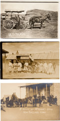 Photography:Official Photos, Three Real Photo Postcards: Three Fantastic Late 19th Century Images of Stagecoaches.... (Total: 3 Items)