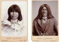 Photography:Cabinet Photos, Cabinet Card Photos: Two Yuma Bill and an Apache Squaw ... (Total: 2 Items)