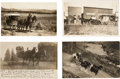 Photography:Official Photos, Four Real Photo Postcards: Four Superb Images of Western Stagecoaches, Circa 1908-1912.... (Total: 4 Items)