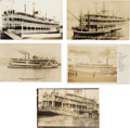 Photography:Official Photos, Five Real Photo Postcards: Mississippi Riverboats, Circa1909-1933.... (Total: 5 Items)