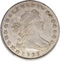 Early Half Dimes: , 1796 H10C LIKERTY AU53 PCGS. V-1, LM-1, R.3. Splendid technicalquality. The surfaces are expertly centered with sharp defi...