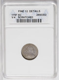 Early Half Dimes: , 1797 H10C 16 Stars--Scratched--ANACS. Fine 12 Details. V-4, LM-2,R.4. This is one of two varieties with 16 obverse stars. ...