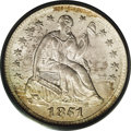 Seated Half Dimes: , 1851-O H10C MS66 PCGS. Even though there was widespread melting ofpre-1853 silver coins (as they were worth more melted th...
