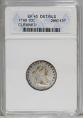 Early Dimes: , 1798 10C Large 8--Cleaned--ANACS. XF40 Details. JR-4, R.3. Nearlyall the original luster has been lost to either wear or c...