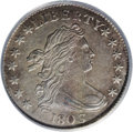 Early Dimes: , 1803 10C AU50 PCGS. JR-4, R.5. This variety is notable for the manydie cracks found on the reverse, which was struck by a ...