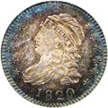 Bust Dimes: , 1820 10C Large 0 MS64 NGC. JR-8, R.3. The Large 0 in the date andthe old style reverse lettering, with the left bases of t...