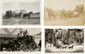 Photography:Official Photos, Four Real Photo Postcards: Four Exceptional Images of WesternStagecoaches.... (Total: 4 Items)