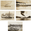 Photography:Official Photos, Five Real Photo Postcards: Ohio River Riverboats, Circa 1906-1910.... (Total: 5 Items)