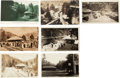 Western Expansion:Goldrush, Real Photo Postcards: Seven Monte Rio California Train DepotScenes.... (Total: 7 Items)