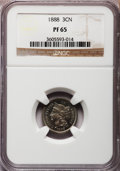 Proof Three Cent Nickels: , 1888 3CN PR65 NGC. NGC Census: (365/181). PCGS Population(402/192). Mintage: 4,582. Numismedia Wsl. Price for problemfree...