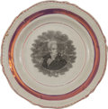 Political:3D & Other Display (pre-1896), Andrew Jackson: Strawberry Luster Plate....